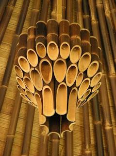 kerajinan dari bambu, lampu gantung cantik