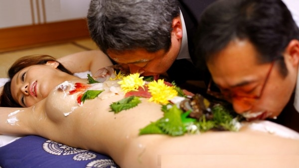 Japanese Nyotaimori (Naked Body Sushi)