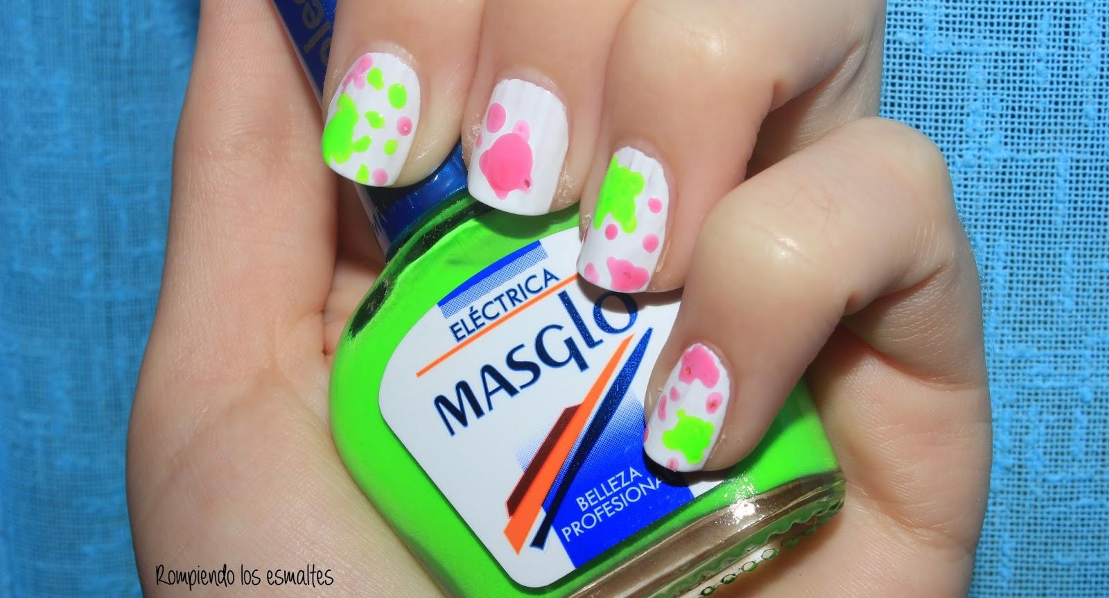 Manchas de pintura - Desafío decoración Masglo - Rompiendo los esmaltes