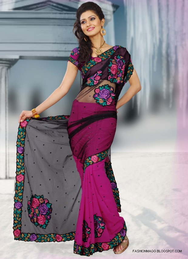 Fashion  Style Saree Designs-Saree Designs For Summer -8695