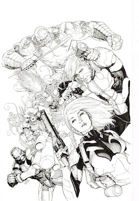 Fashion and Action: Guardians of the Galaxy by Leinil
