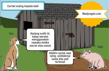 curhat anjing kepada babi