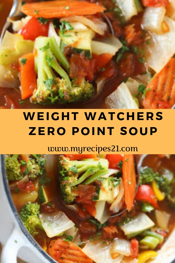 Weight Watchers Zero Point Soup #soup #weightwatchers #lunch