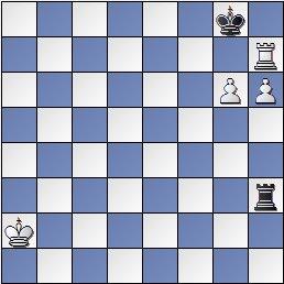 Estudio artístico de ajedrez de Genrikh Kasparian, Shakhmaty v SSSR , 1946 (posición después de 2. h6??)