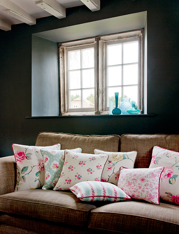 DIY handmade cushions with trim by Clarke and Clarke! This is perfect inspiration for your sewing projects