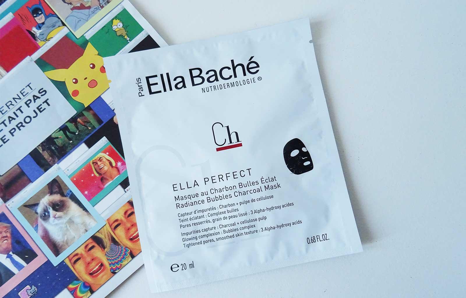 soins visage Ella Baché masque charbon bulles éclat