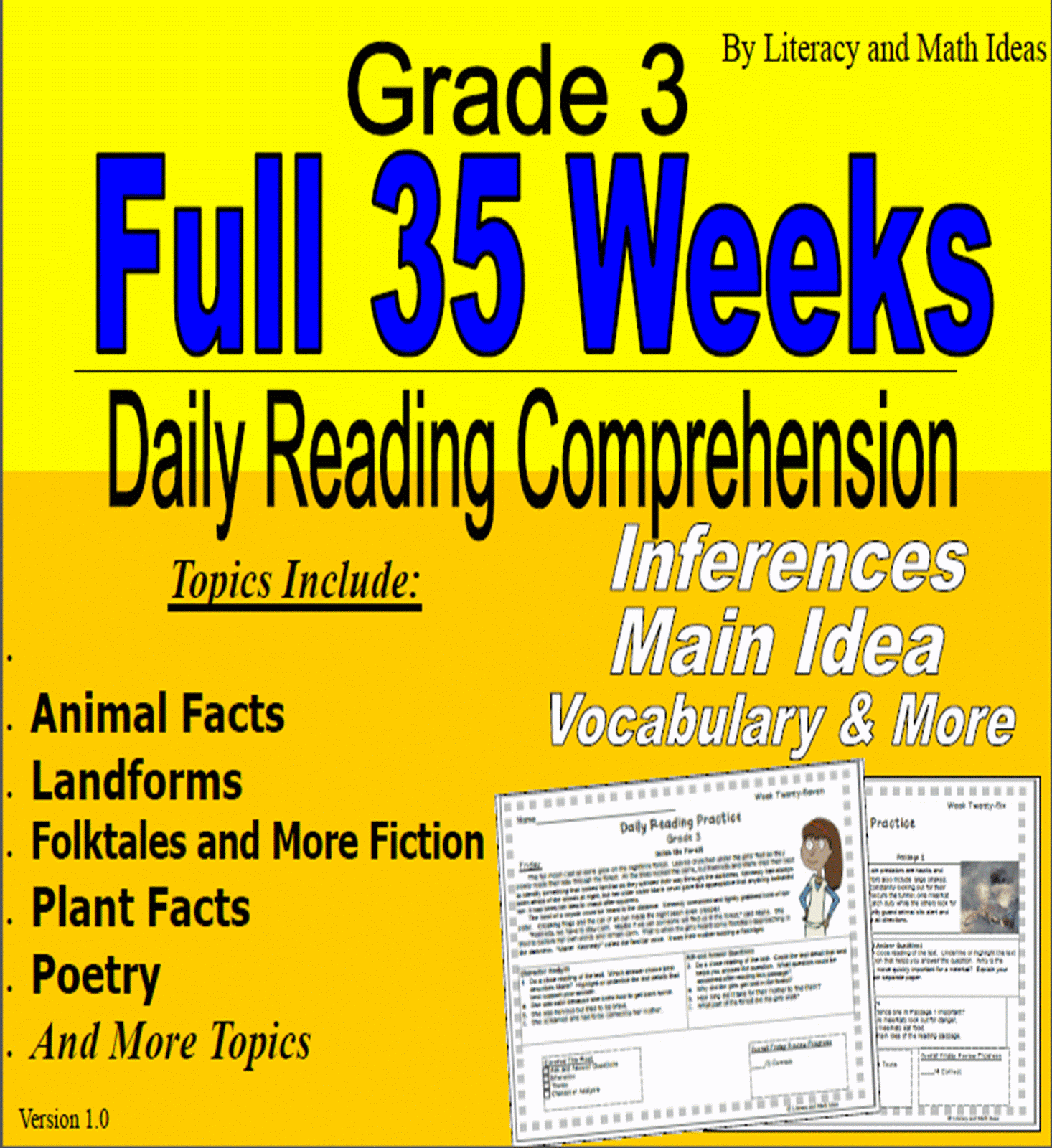 Literacy Amp Math Ideas 35 Weeks Of Daily Reading Comprehension Grade 4