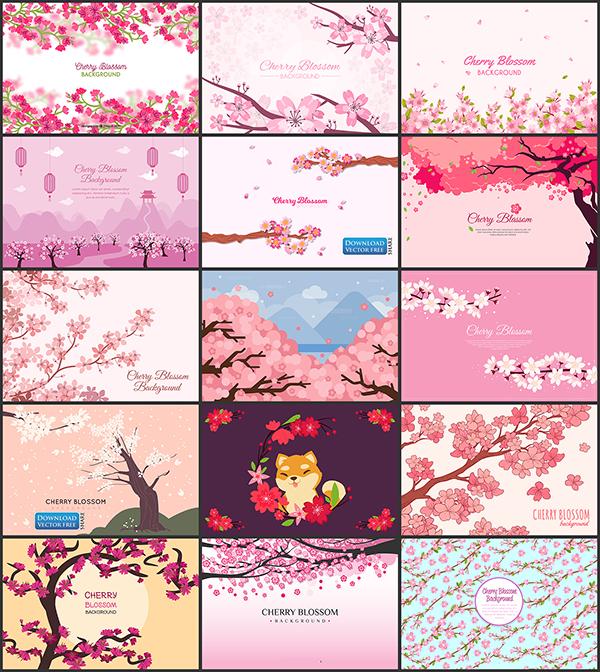 15-nen-do-hoa-canh-sac-hoa-anh-dao-no-don-xuan-cherry-blossom-vector-8779