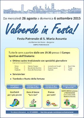 Valverde in Festa! dal 26 agosto al 6 settembre via Maironi da Ponte - 24123 - Bergamo (BG)