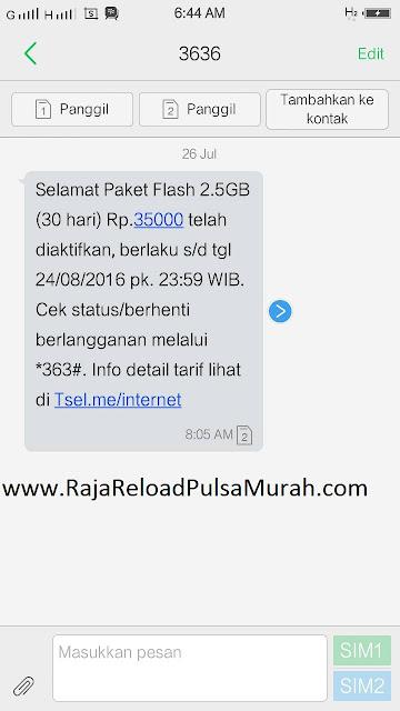 Cara Daftar Paket Internet Telkomsel 35rb Dapat kuota 2,5GB/30 Hari
