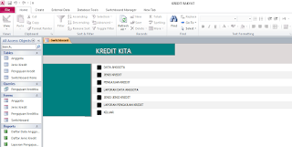 Aplikasi database kredit access 2007