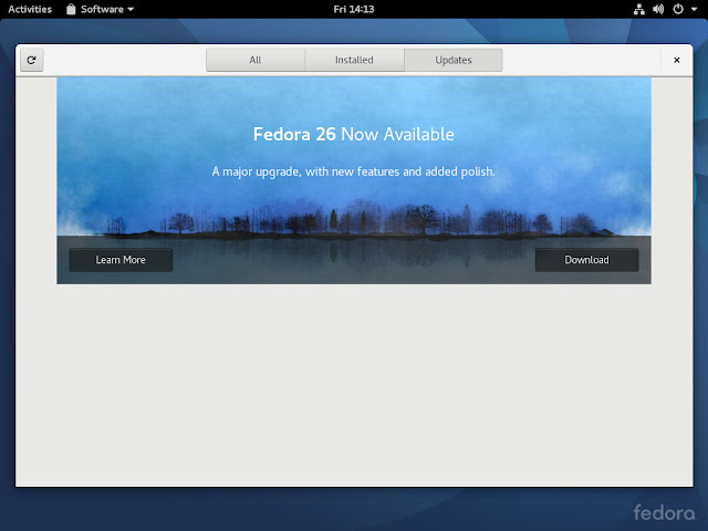 Atualizando a versão 25 para 26 do Fedora