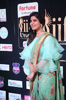Samantha Ruth Prabhu Smiling Beauty in strange Designer Saree at IIFA Utsavam Awards 2017  Day 2  Exclusive 49.JPG
