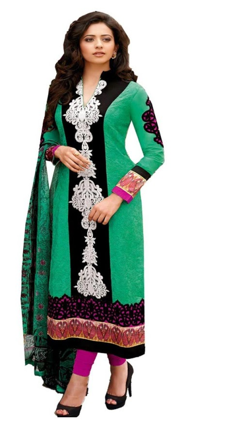 Rakul Preet Photos In Black Green Salwar Kameez