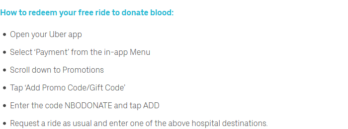 Uber Is Giving Free Rides To Blood Donors! Here's How To Get The Ride