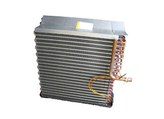 Refrigeration finned evaporator coil