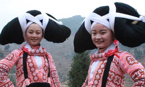Inilah Keunikan Rambut Tanduk Wanita Suku Miao yang Perlu Diketahui