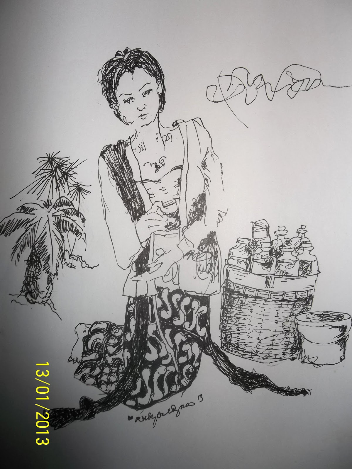 Top Sketsa Gambar Jamu Gendong
