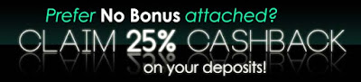 Play with NO BONUS and claim 25% cash back | Uptown Aces Casinos