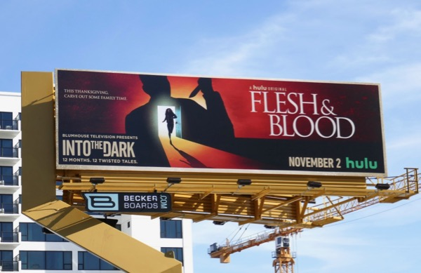 Into the Dark Flesh Blood billboard