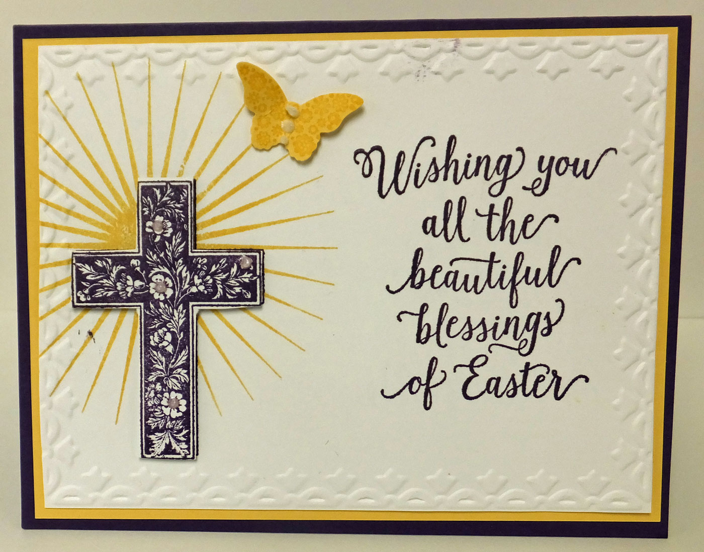 Devoted Stamper Suite Sayings Blessed by God and Kinda Eclectic – Easter Card Sayings