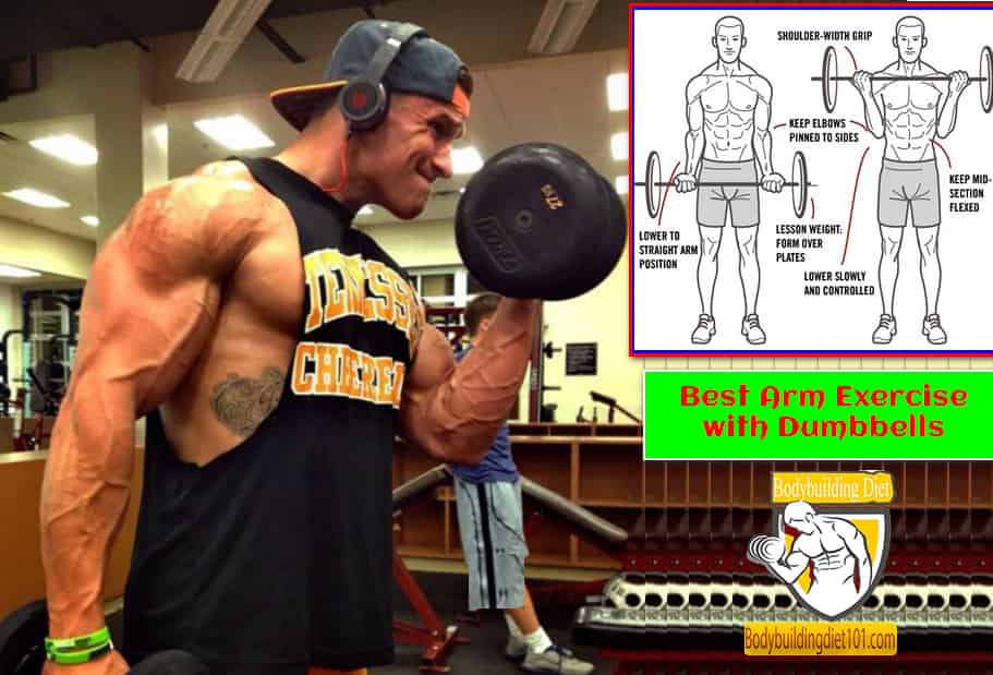 Best Arm Exercise with Dumbbells for men
