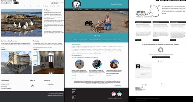 website design screens