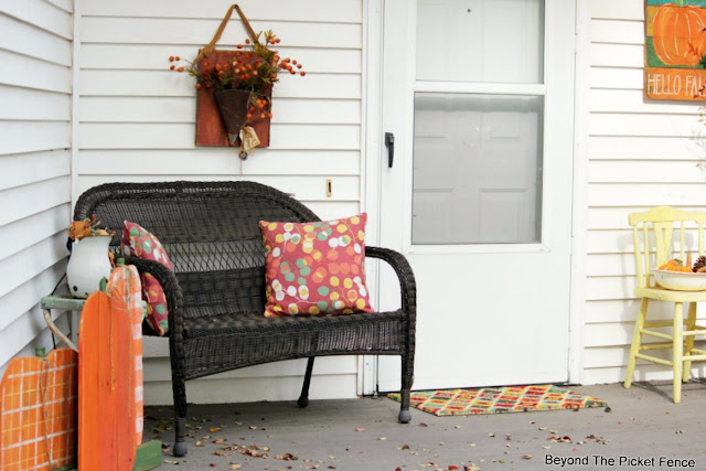 fall porch decor on a budget