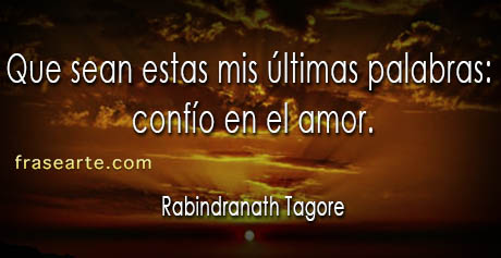 Frases de amor - Rabindranath Tagore