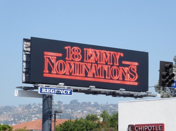 Stranger Things 18 Emmys billboard