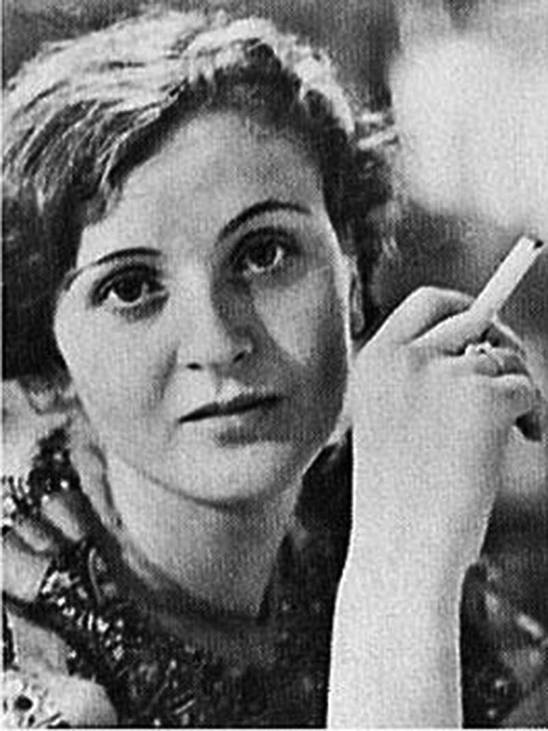 Gretl Braun indulges in a forbidden cigarette.