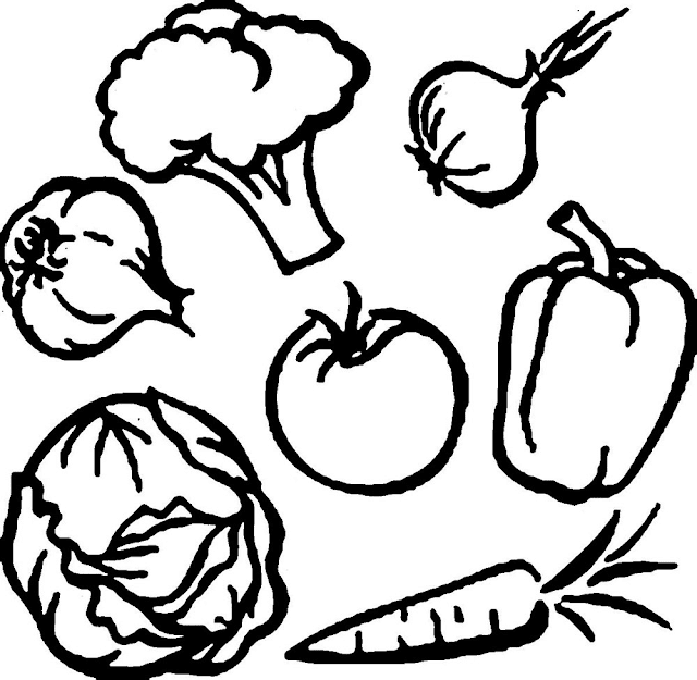 Gambar Mewarnai Sayuran Mewarnai Gambar