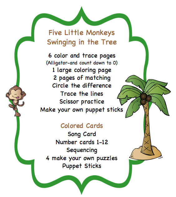 Poems monkey swinging in a tree