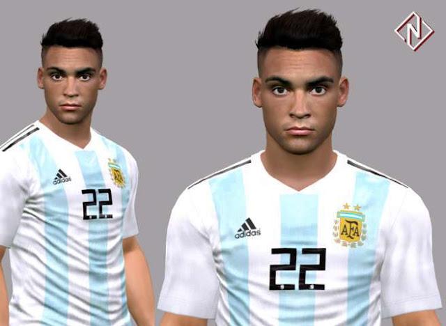 Lautaro Martínez Face PES 2017