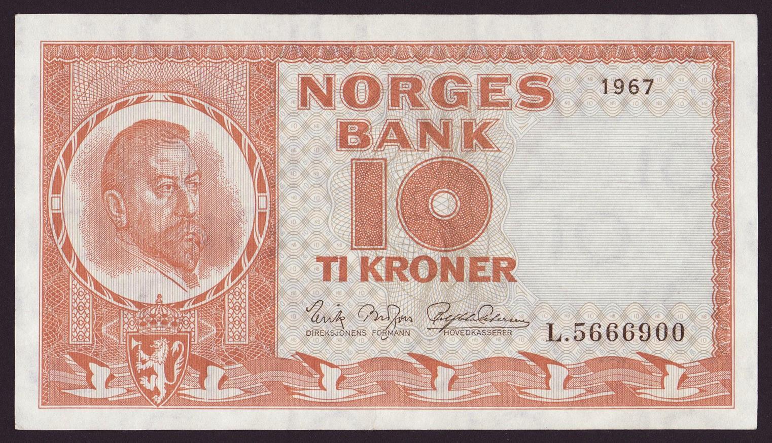 Norway Banknotes 10 Kroner banknote