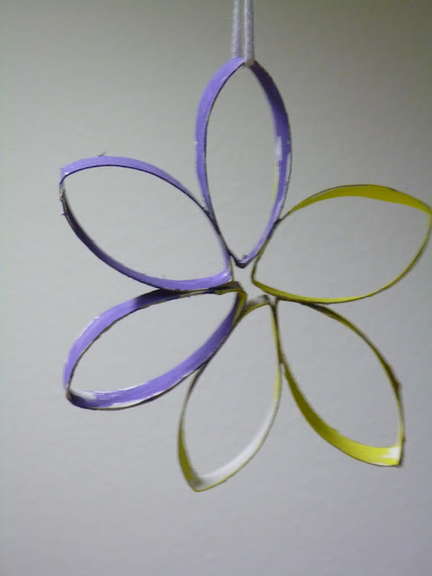 WC-Röhren Deko Blumen