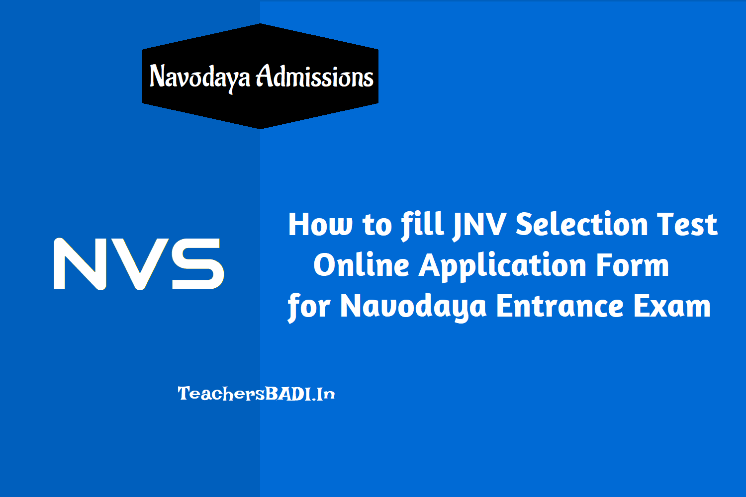 how to fill jnv selection test online application form for navodaya