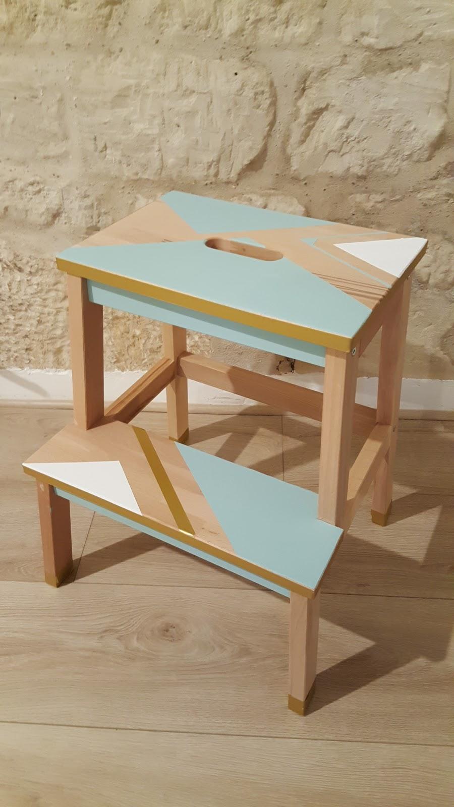 la sourici re diy 2 customiser un marche pied ik a. Black Bedroom Furniture Sets. Home Design Ideas
