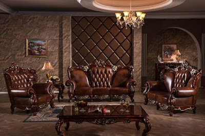 20 desain sofa tamu kulit ukiran mewah untuk ruang tamu