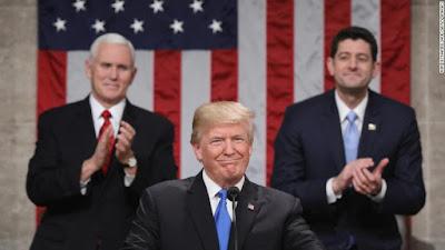 TRUMP - Em 1º Estado da União, Trump pede união no Congresso para aprovar plano de infraestrutura e reforma imigratória