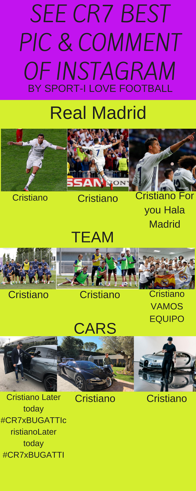 Cr7 Best Pics & Comment Of Instagram