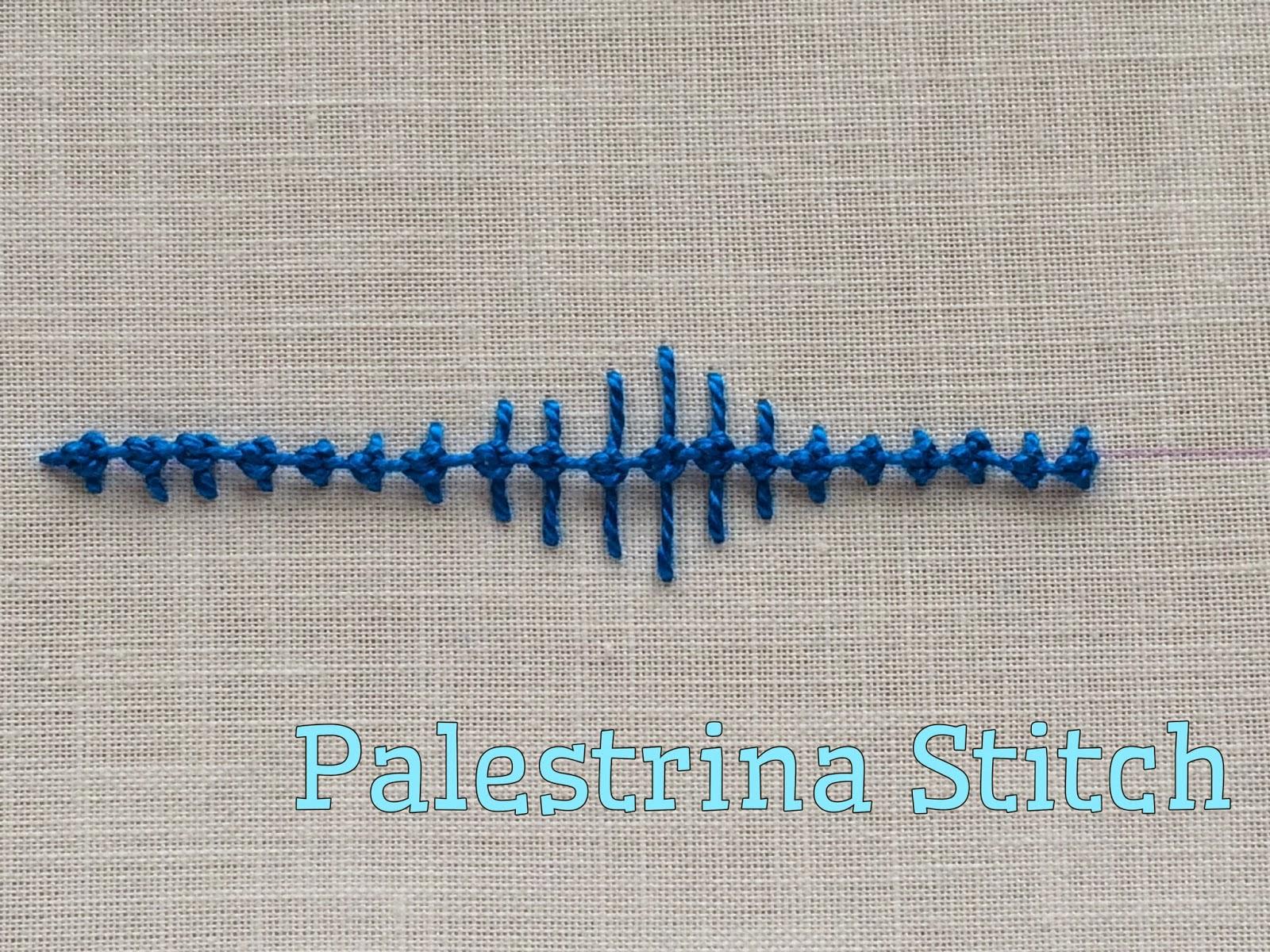 Take a Stitch Tuesday Palestrina Stitch