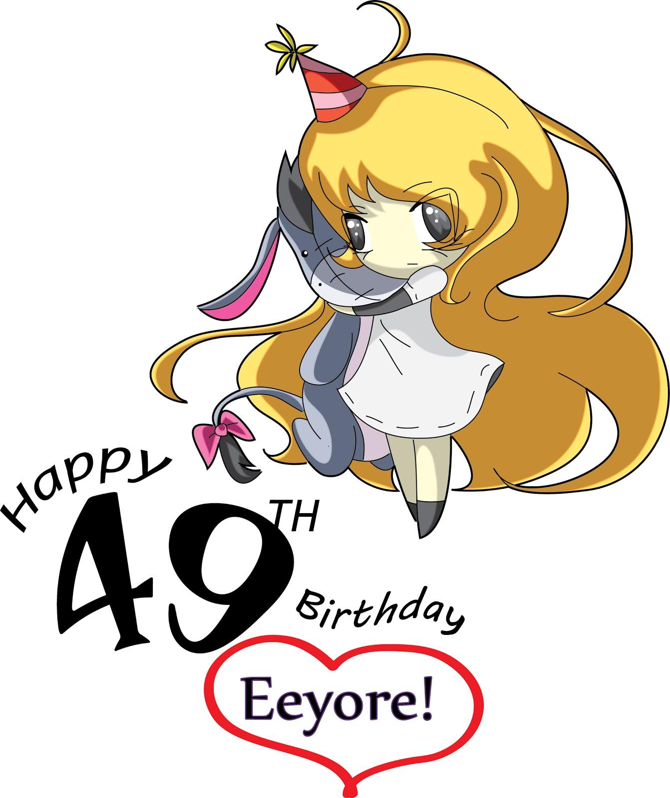 Kosmic Kat: ~Happy Birthday 49th Eeyore!~