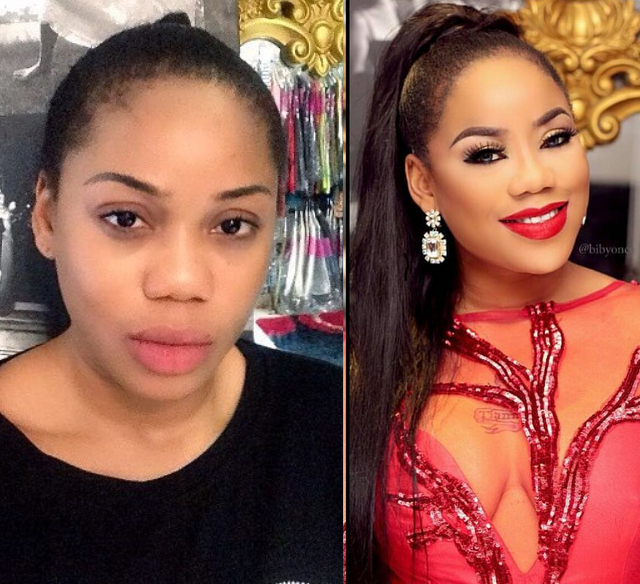 toyin lawani no makeup