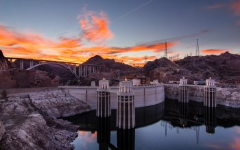 Wallpaper: Magnificent view with Hoover Dam