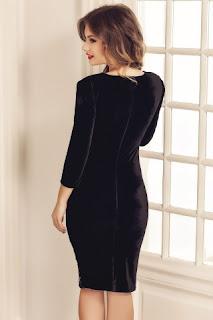 rochie-neagra-eleganta-midi-din-catifea-si-dantela-miriam-2