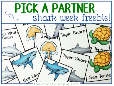 Choosing partners can be a daunting task for teachers and students alike. These shark cards are a fun, random way to help with assigning partners in the classroom!