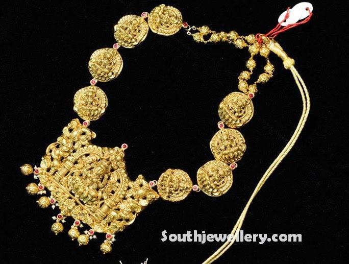 Antique Gold Ashtalakshmi Haar Jewellery Designs