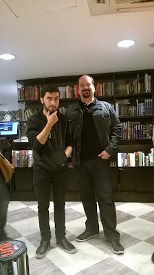 Os roteiristas Rafael Levi e Mauricio R B Campos