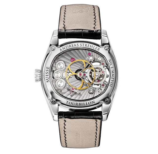 Andreas Strehler Trans-axial Remontoir Tourbillon view of the movement